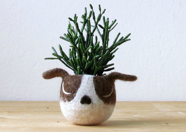 Dog Head Succulent Planter by theYarnKitchen