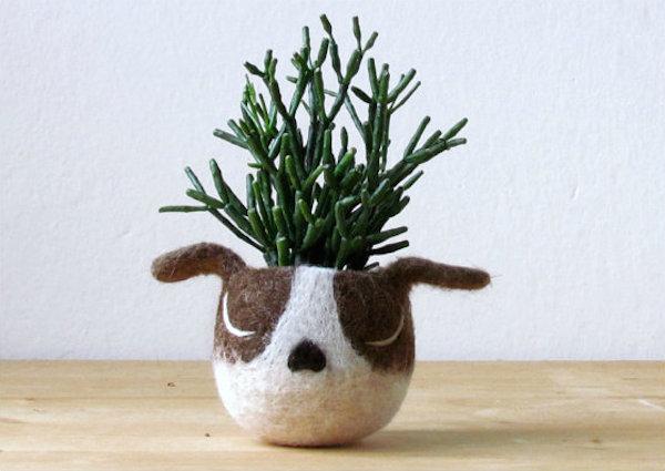 Dog Head Succulent Planter