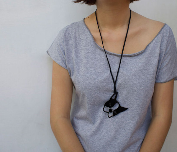 Black Boston Terrier Necklace by WinkShirtShop