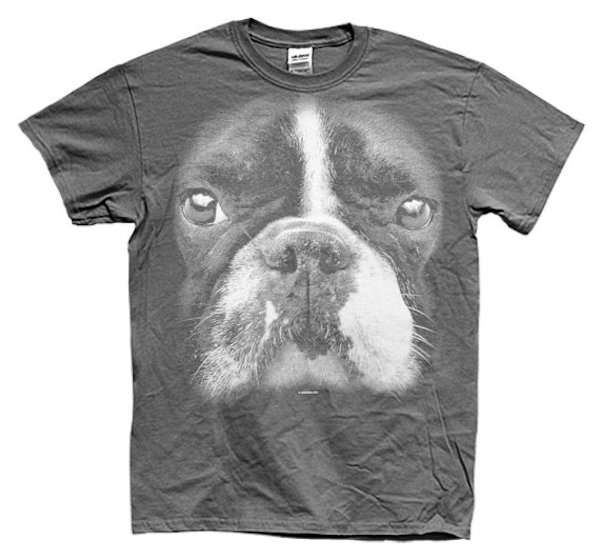 Big Face Boston Terrier T-Shirt by GooderGifts