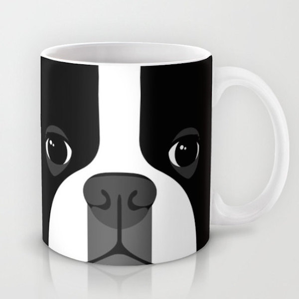 Boston Terrier Close Up Mug by Doufaith