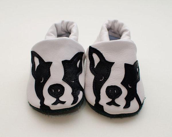 Boston Terrier Rock n Sole Slippers by MrsBojingles