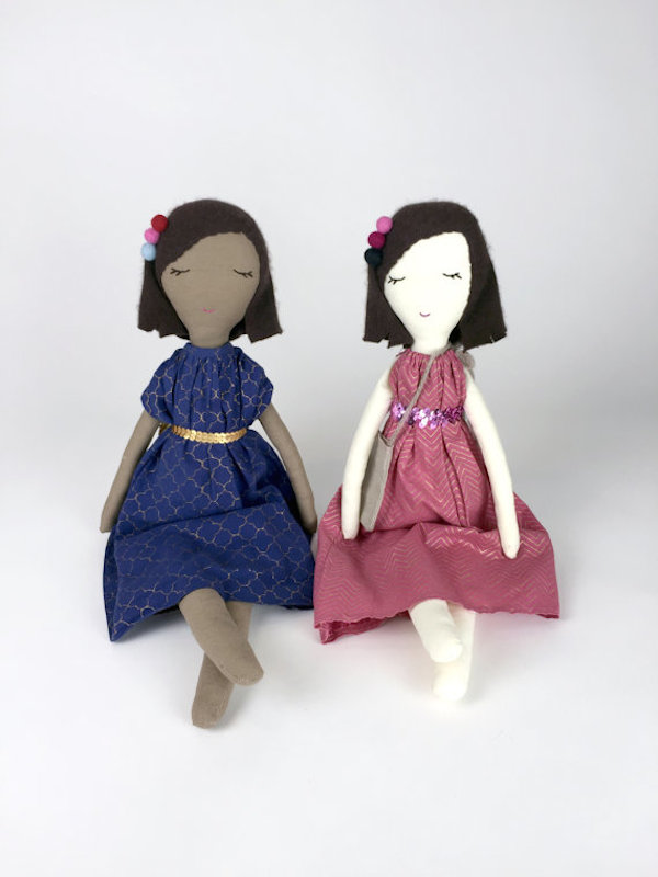 Snuggly Ugly and Muny Design Rag Dolls collaboration