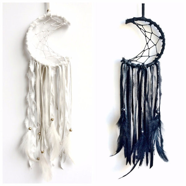 Mini crescent moon dreamcatcher