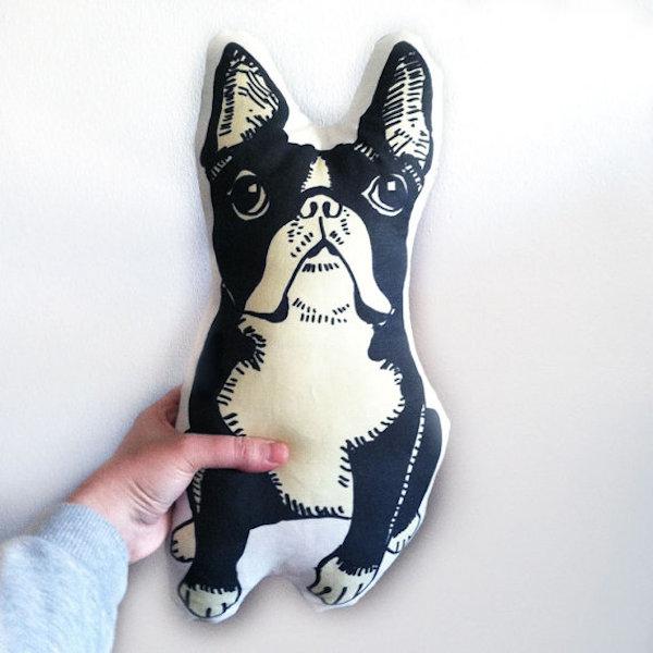 Boston Terrier Pillow by GoodAfternoonan