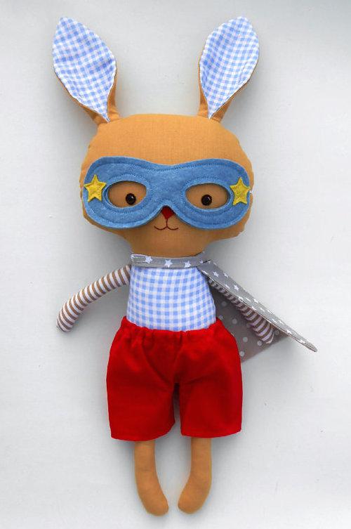 LaLobaStudio Superhero Bunny