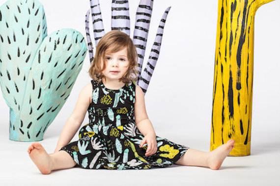 Thief and Bandit Kids Cactus Twirling Dress