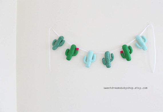 Sweet Dreams Baby Shop Cactus Garland