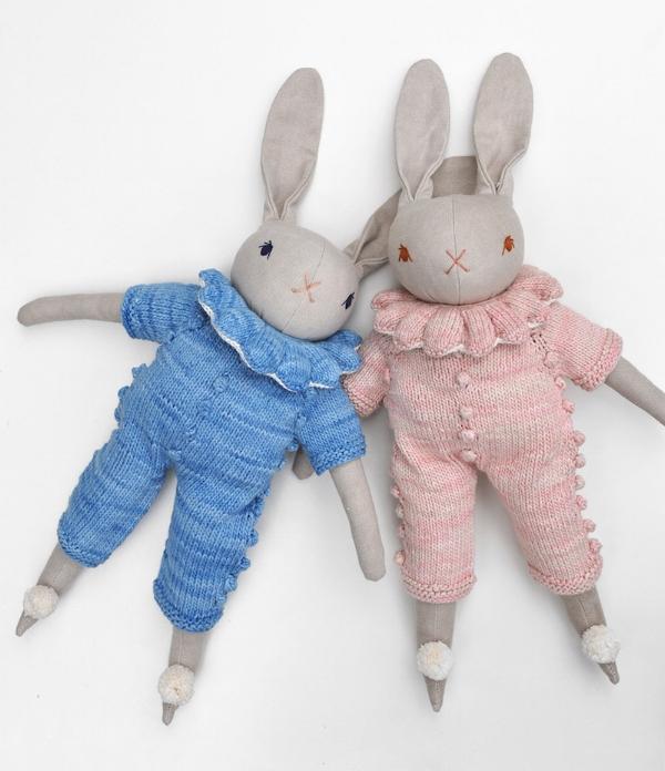 Polka Dot Club and Misha & Puff Large Spring Rabbit