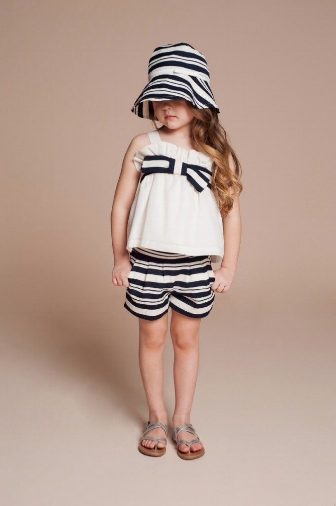 Giant Bow Sun Top $70.95;   Candy Stripe Tailored Shorts $73.43;   Candy Stripe Sunhat $51.15