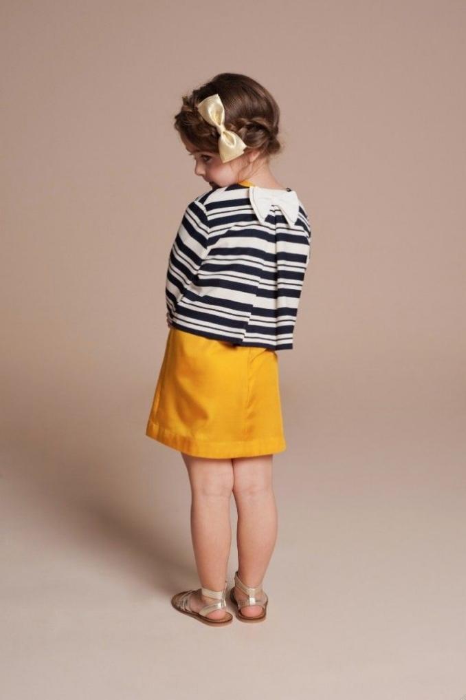 Candy Stripe Jacket $138.60; Daisy Chain Dress $118.80; Bow Hairclip$23.93