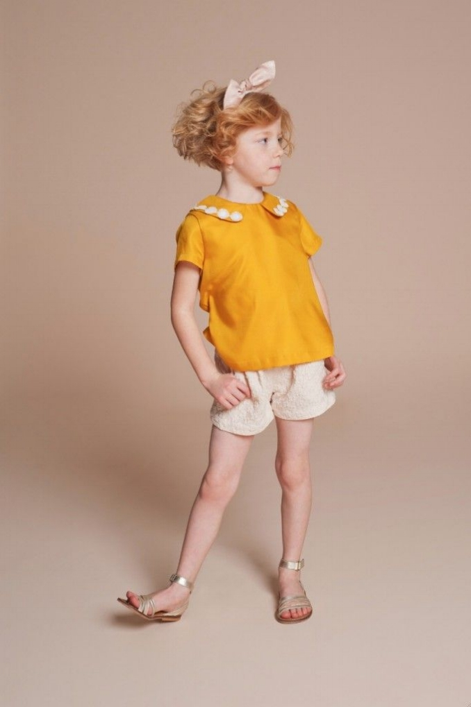 Daisy Chain Blouse $90.75;   Flower Jacquard Tailored Shorts $75.08;   Knot Hairband $43.73