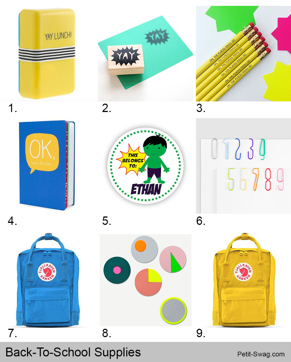 Back-To-School Supplies | Petit-Swag.com