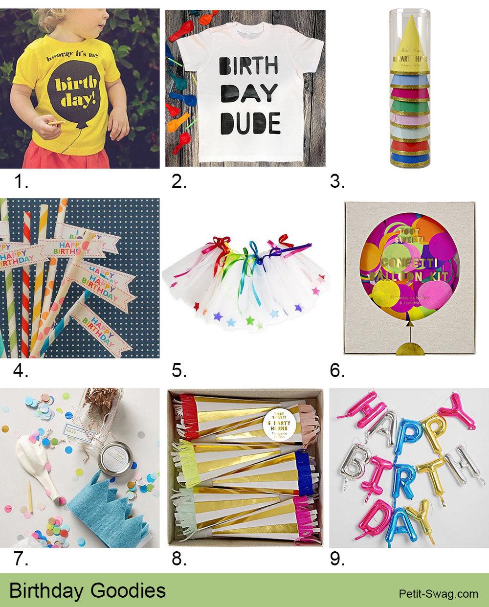 Birthday Goodies | Petit-Swag.com