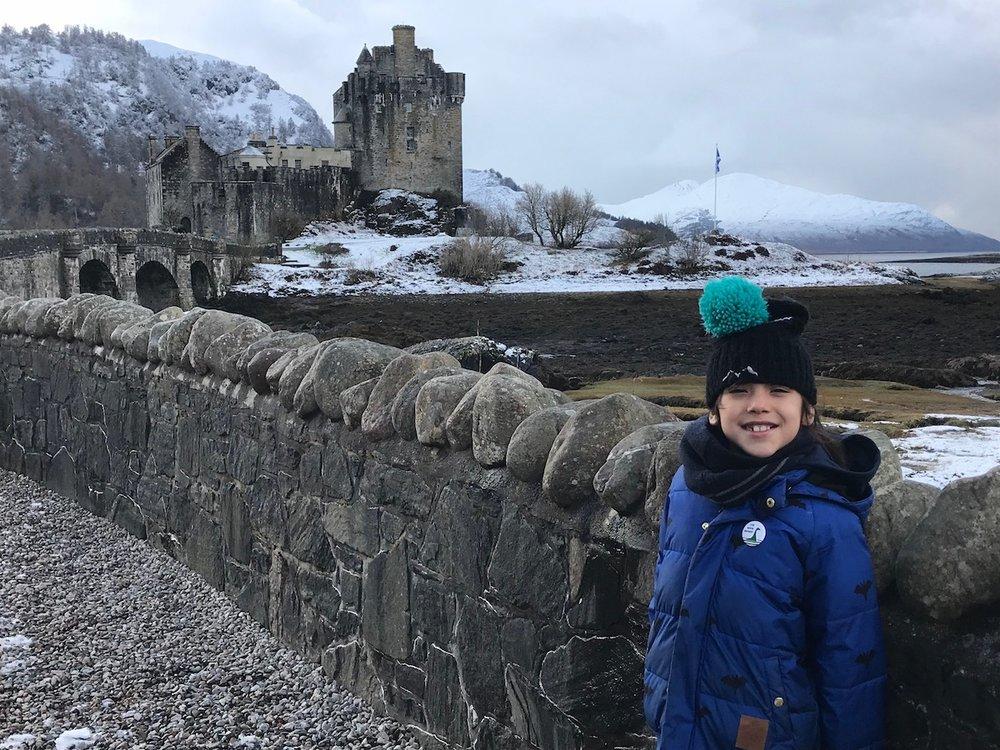 Mario at Eilean Donan Castle