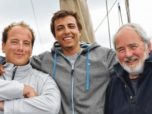 ELS skipper Arthur Lescault, Program Assistant Davi Barreiros, and ELS Director Will Sutherland