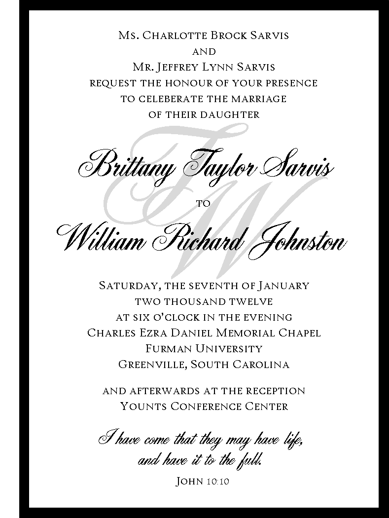 STATIONERY / Wedding Invitation