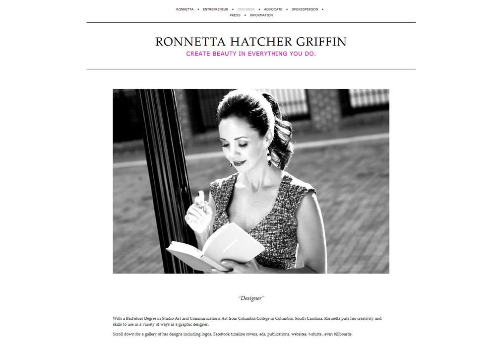 WEBSITE DESIGN / Ronnetta Griffinw