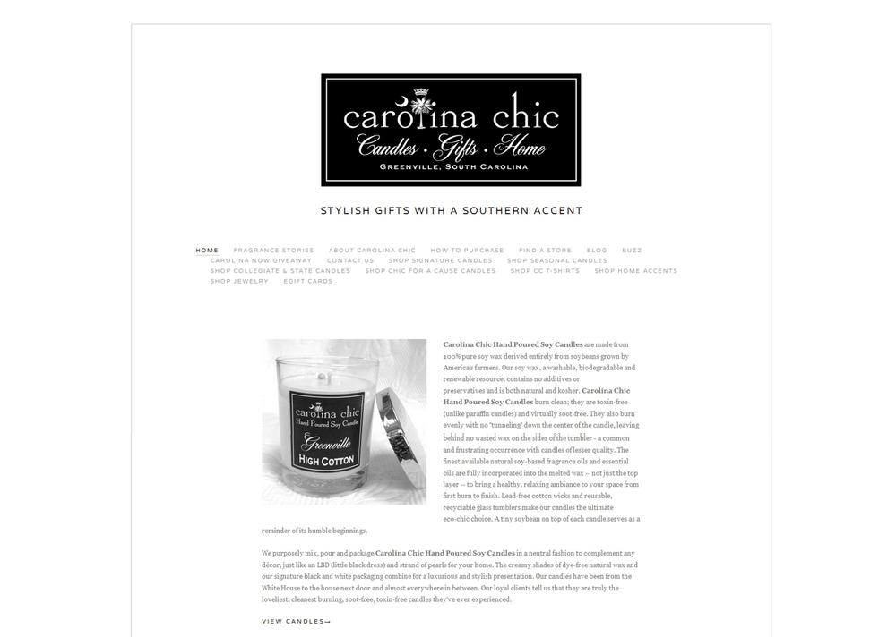 WEBSITE DESIGN / Carolina Chic