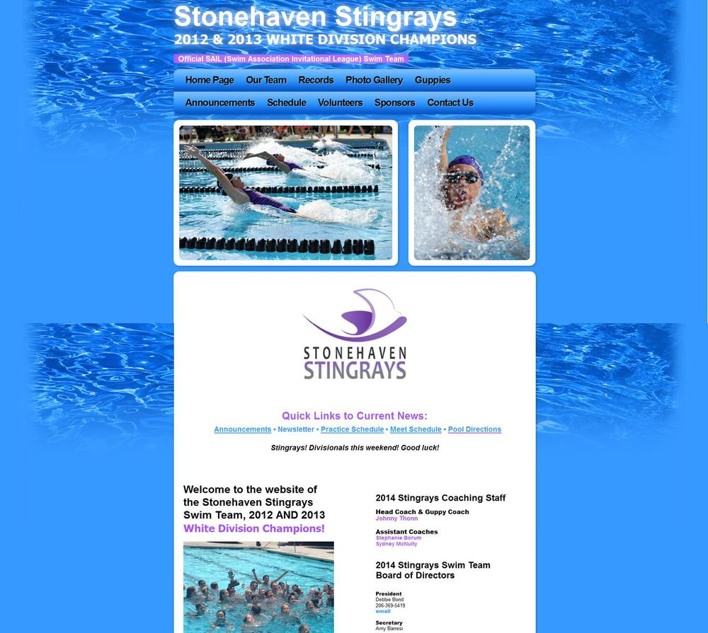 WEBSITE DESIGN / Stonehaven Swim Team
