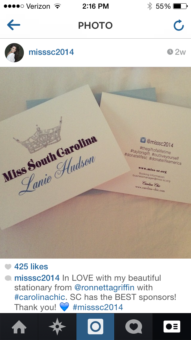 Miss South Carolina / Stationery