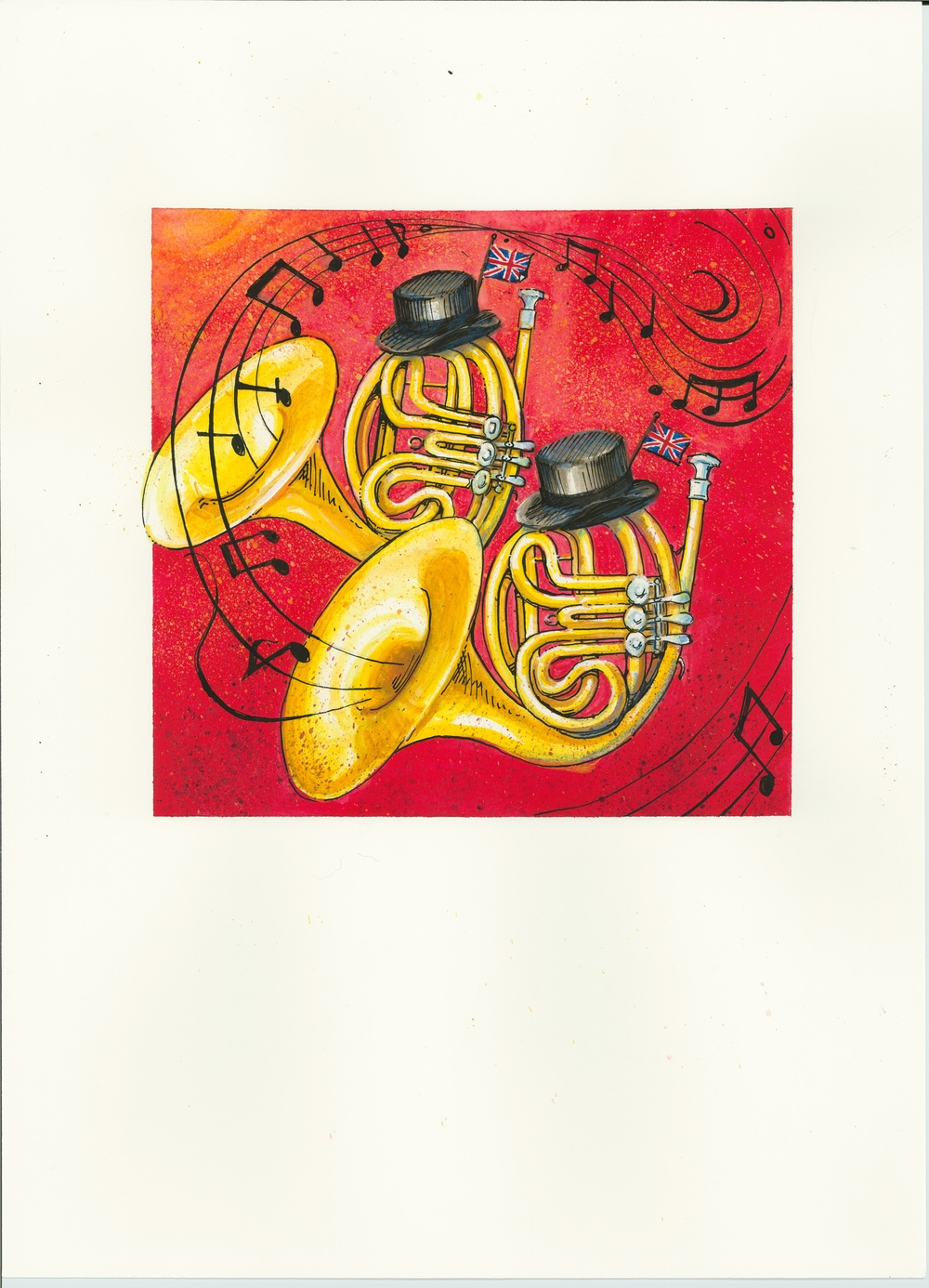 Artwork, (English) French Horns', Christine Tell 20150602.JPG