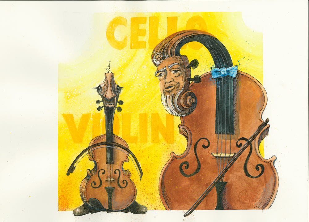 Artwork, 'Cello, Violin', Christine Tell 20150422.JPG