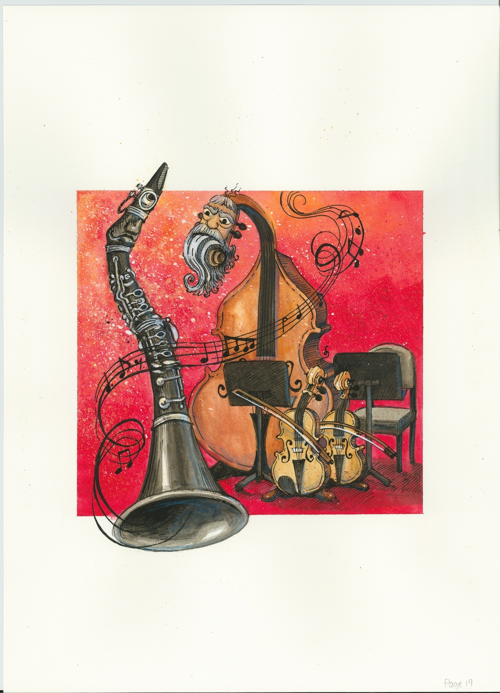 Artwork, 'Clarinet and More Strings', Christine Tell 20150602.JPG