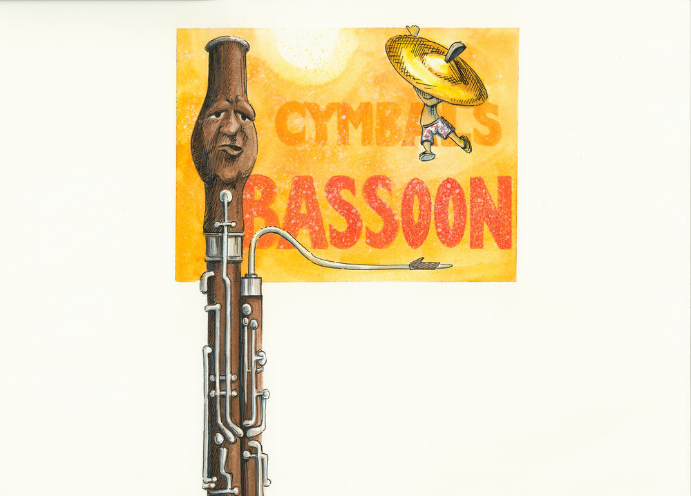 Artwork, 'Cymbals, Bassoon', Christine Tell 20150422.JPG