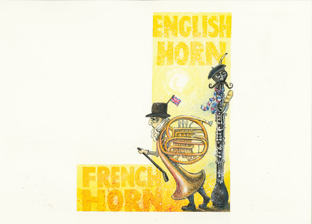 Artwork, 'English Horn, French Horn', Christine Tell 20150422.JPG
