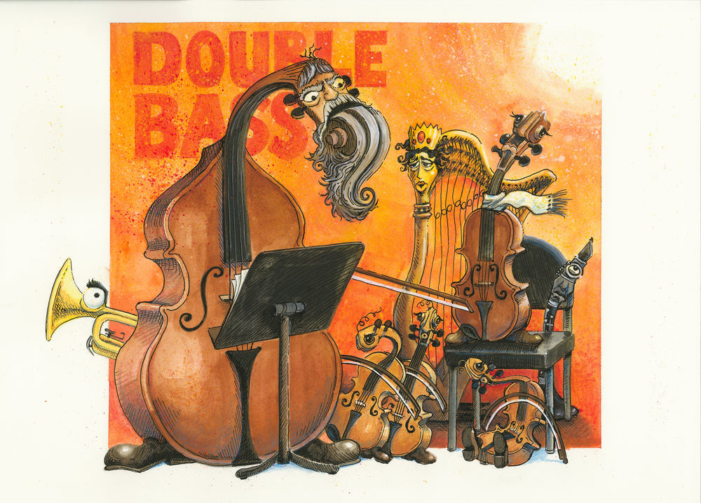 Artwork, 'Double Bass', Christine Tell 20150422.JPG