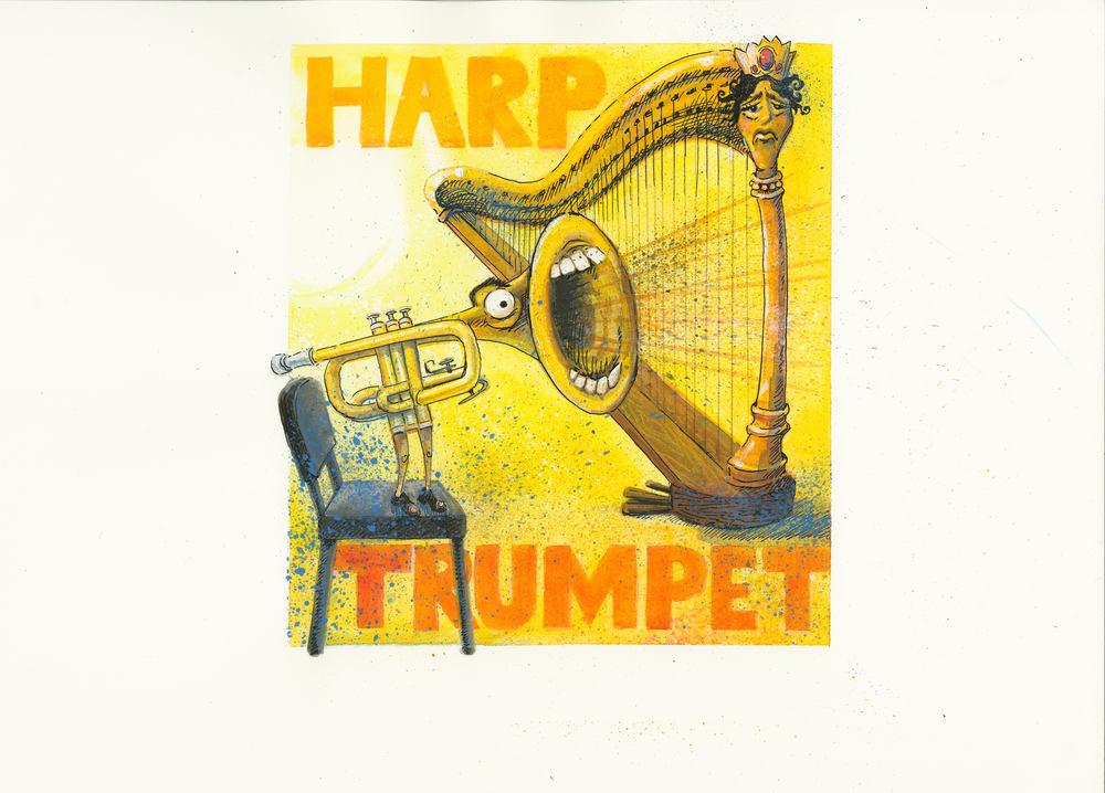 Artwork, 'Harp, Trumpet', Christine Tell 20150422.JPG