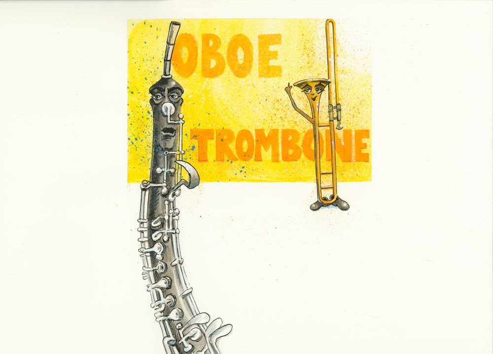 Artwork, 'Oboe, Trombone', Christine Tell 20150422.JPG