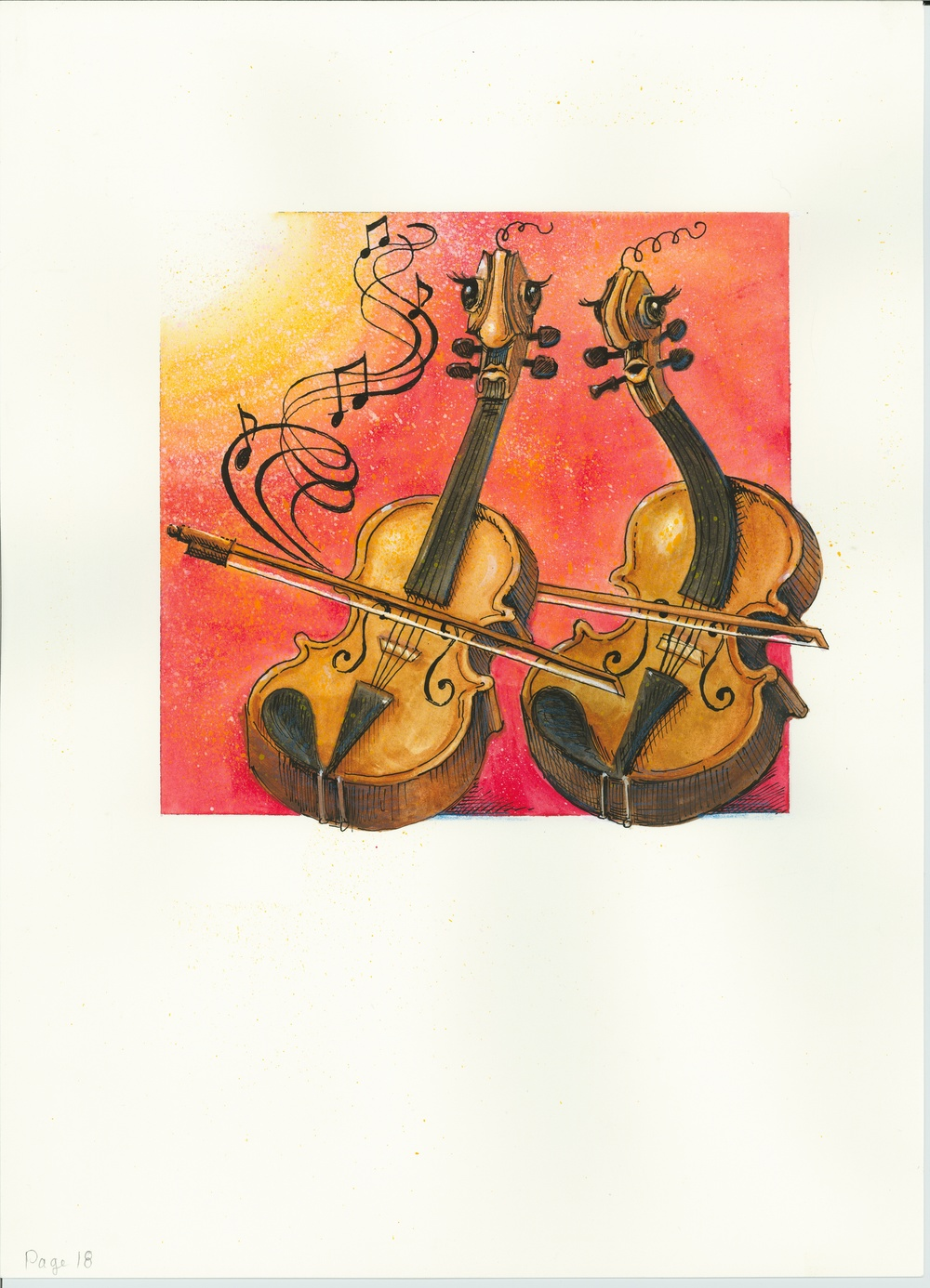 Artwork, 'Two Strings', Christine Tell 20150602.JPG
