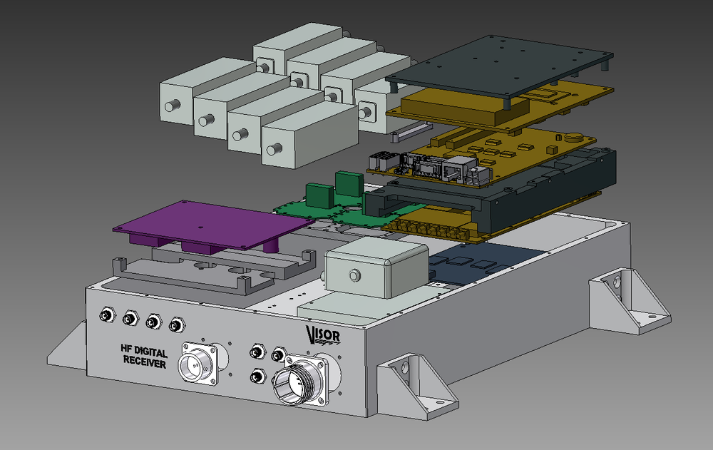 Digital receiver - CAD exploded view