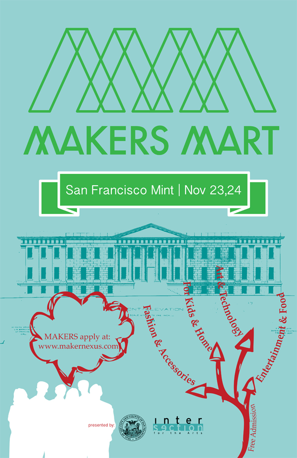 The Old Mint SF is turning into a Maker Mart, this weekend, Nov. 23 & 24th.
