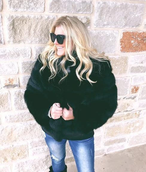 Lisa Colly Black Faux Fur Coat From Amazon
