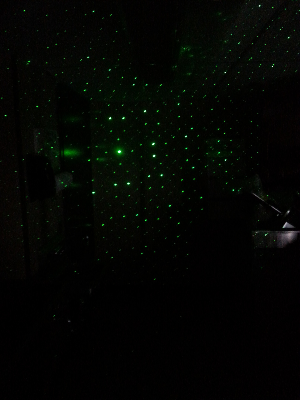 The laser grid in action in the kitchen...which was the former prison barracks!