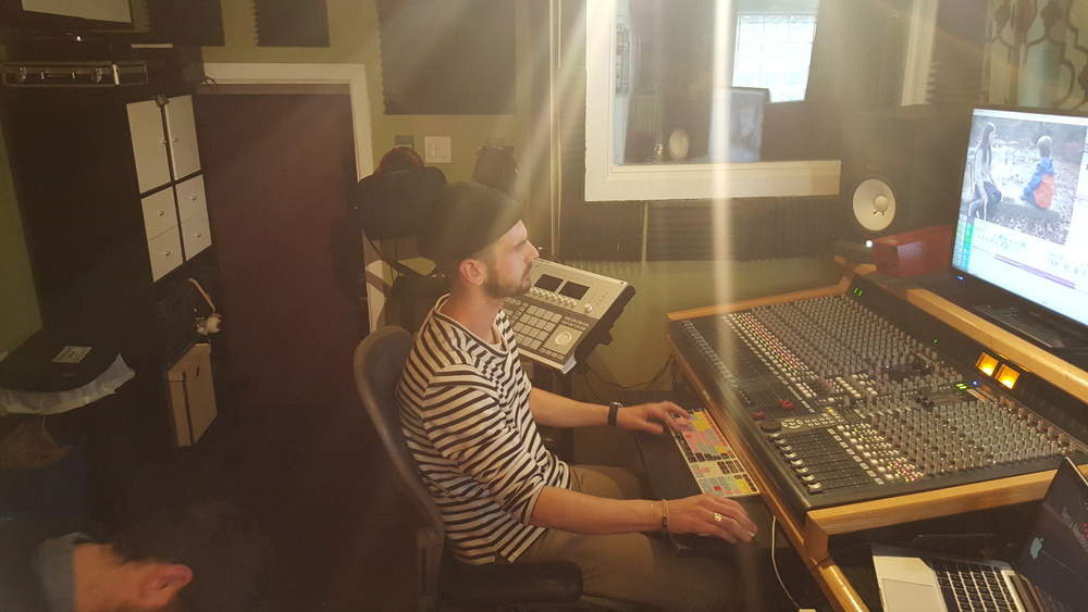 Sound Designer Sam Nuttle working on creative sound design for Lost Creek!