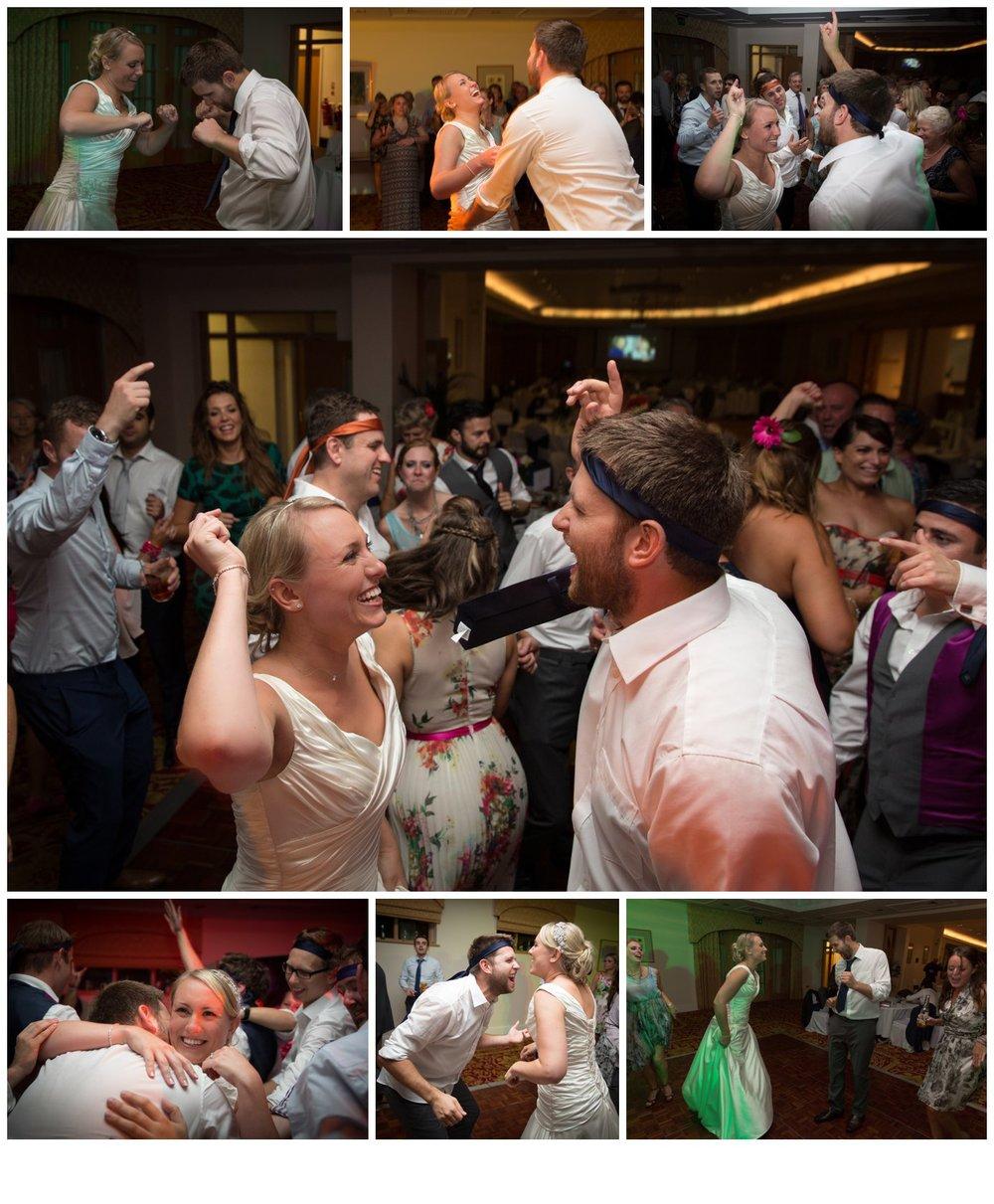 Matt and Rachel having the time of their lives on the dance floor.