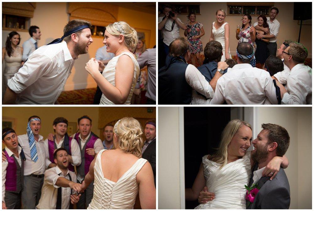 Serenading the bride.