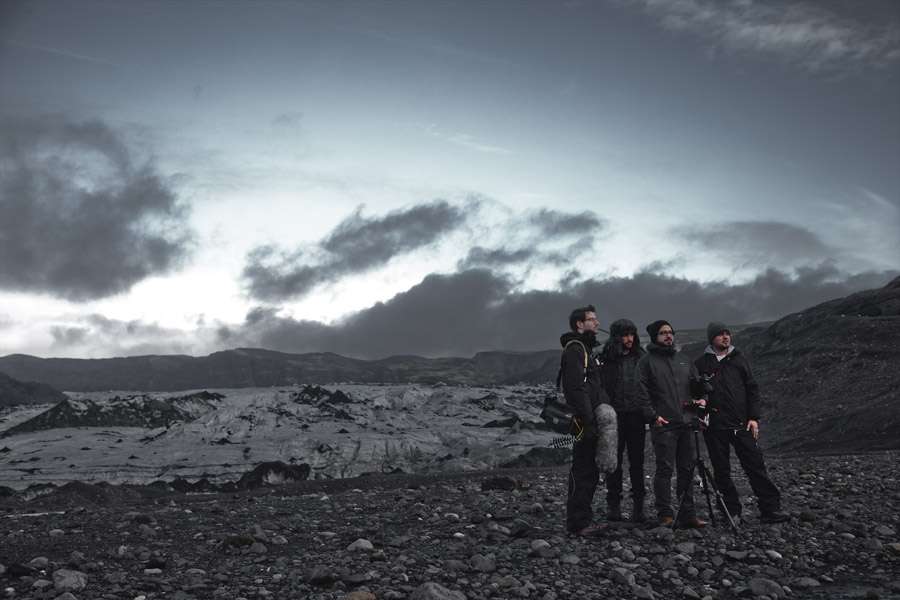 A few of the team in Iceland.