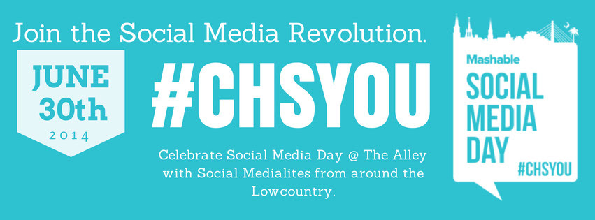 CHARLESTON'S FIRST SOCIAL MEDIA DAY! Join us at The Alley on Monday