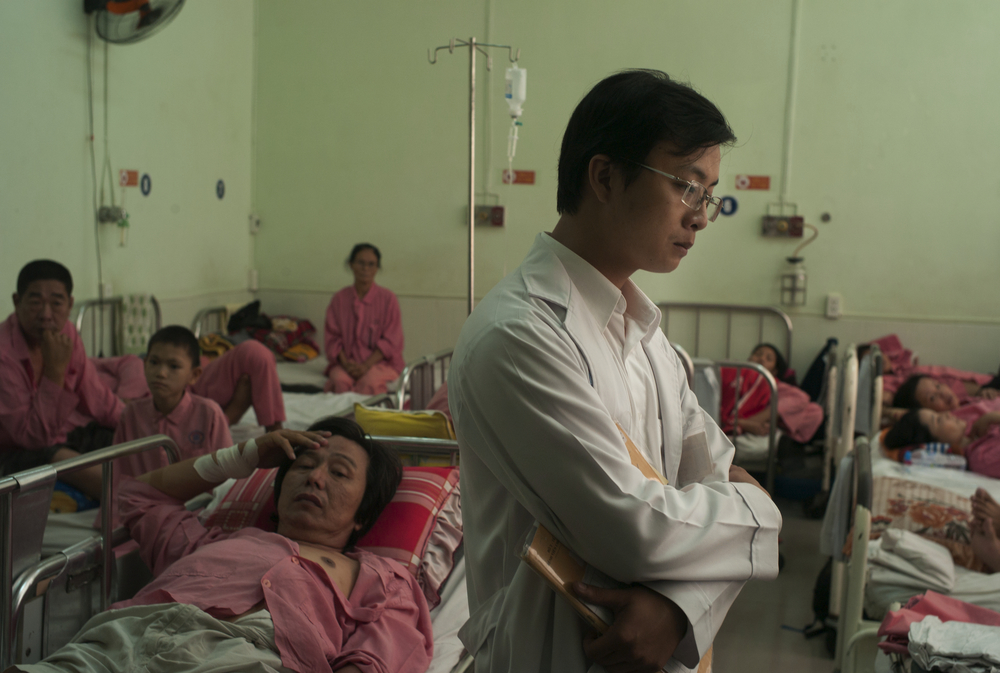 The infectious disease ward at Cho Ray Hospital, Ho Chi Minh, Vietnam.