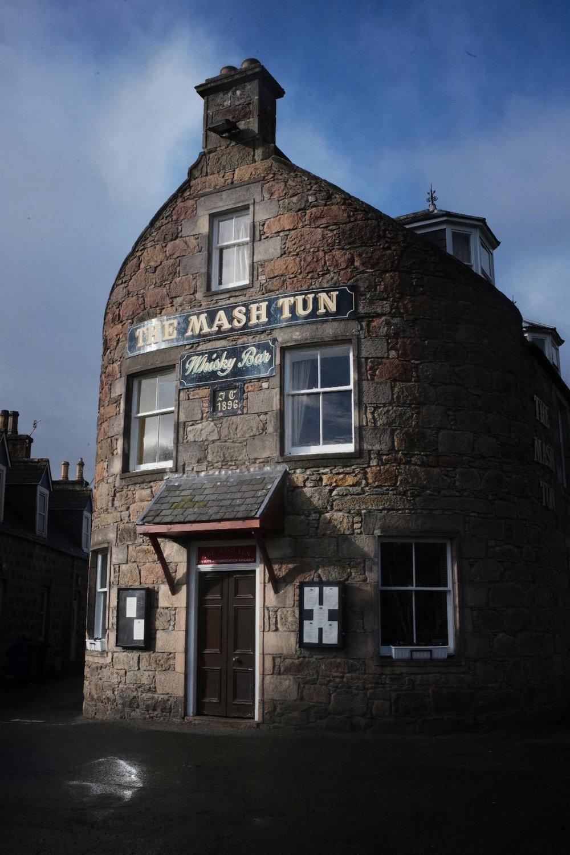 The Mash Tun Whisky Bar in Aberlour.