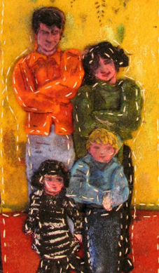 Self Portrait with Family. Wool felt and acrylic. 2006.