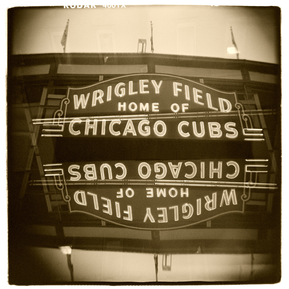 """Wrigley Field, Chicago"" H1465 (In-camera Double Exposure)"