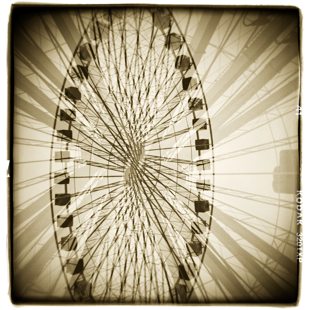 """Everything I think I know, I'm not sure I do"" Navy Pier, Chicago H1472 (In-camera Double Exposure)"