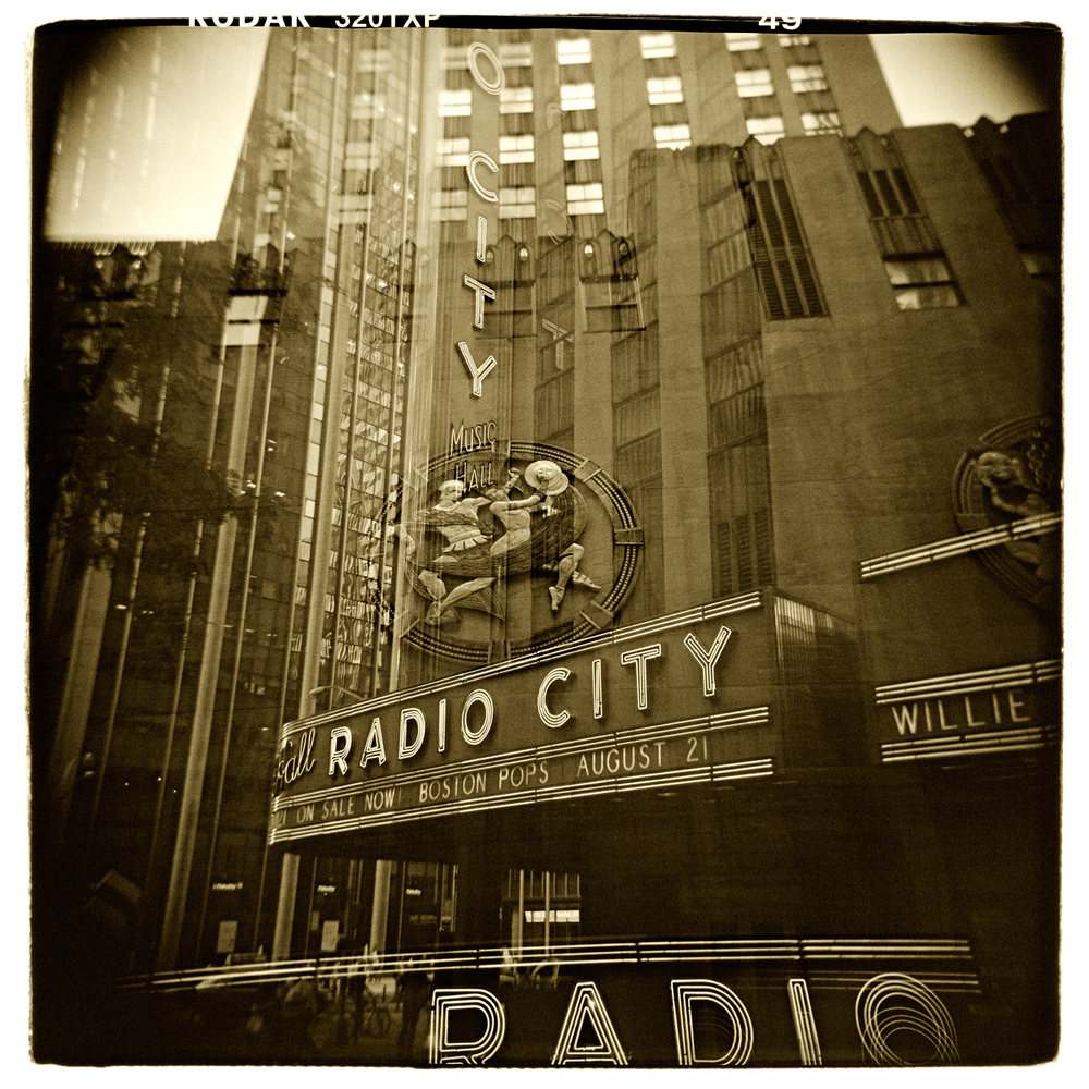 """Radio City, New York"" H1477 (In-camera Triple Exposure)"