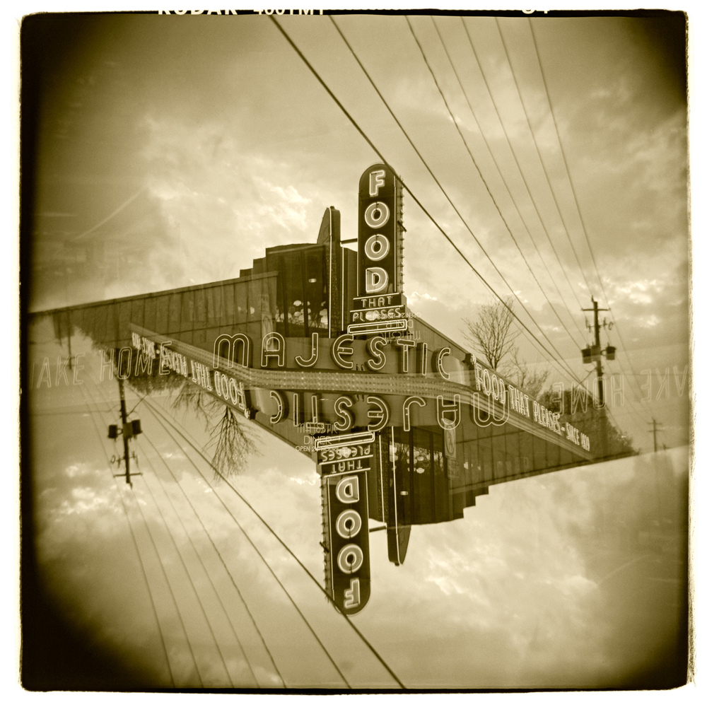 """Majestic Diner, Atlanta"" H1491 (In-camera Double Exposure)"